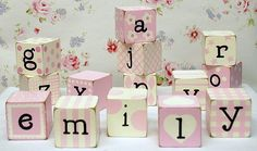 Block Letters in Pink