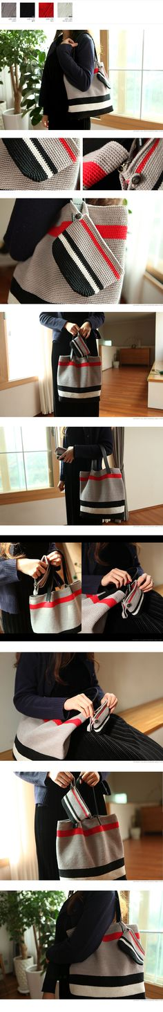Black and white red grey Mochila