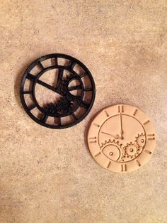 3D Printed steampunk watch clock cookie cutter by BoeTech on Etsy