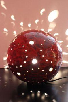 Lámpara esférica cerámica