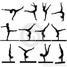Gymnastics silhouettes by Daniel Boiteau, via Dreamstime