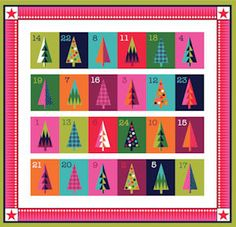 Christmas Wrap It Up Advent Calendar 1612-1 by Henley Studio collection for Makower Fabrics