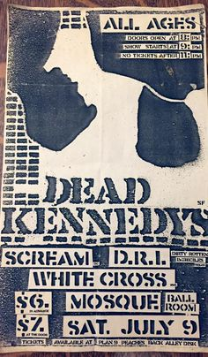 Dead Kennedys Posters Diy, Music Posters, The Damned Band, Hybrid Moments, Grateful Dead Poster, Dead Kennedys, Punk Poster, Rock Band Posters, Punk Jackets