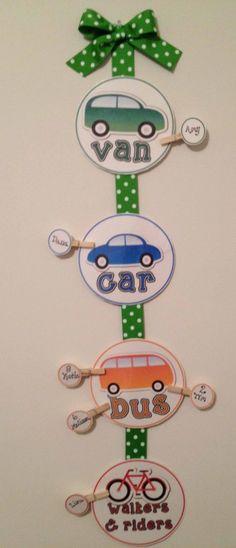 How do you get home? (Transportation Display) - The Lesson Plan Diva - TeachersPayTeachers.com