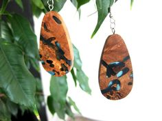 Exotic burl wood and resin necklace and by NikibarsNatureArt