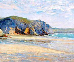 Maxime Maufra, La plage à Morgat, Finistère, 1899