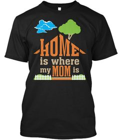 Mother's Day T Shirts | Mom T Shirt Black T-Shirt Front