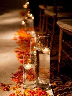 17 fascinating autumn centerpiece design ideas orange wedding 37 spectacular fall wedding aisle dcor tips junglespirit Images