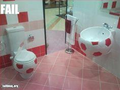 Every soccer girl's dream bathroom!