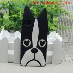 New Marc.Jacobs Cute Cartoon Animal Design Love Dog/Zebra/Owl/Rabbit/ Husky/cat Soft Silicone Phone Cases For iPhone 4 4s 5 5s