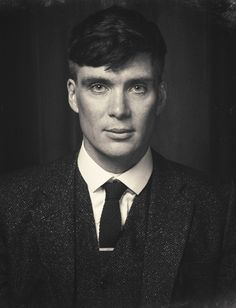'They hung him on a wall!' Cillian Murphy photographed by Chris Saunders for the paintings decorating the Shelbys' Arrow Hall in Peaky Blinders S3.