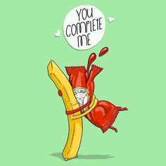 20 Extremely Cute Food Jokes For Your Valentine - Funny - Cute Puns, Funny Puns, Funny Humor, Food Jokes, Frases Humor, Funny Illustration, Humor Grafico, Funny Love, Cute Cards