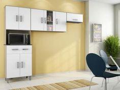 Cozinha Compacta Poliman Móveis Inovare Vitória - 8 Portas 1 Gaveta
