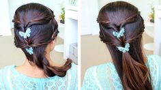 How to do Fancy Rope Braid Half-Updo Hairstyle for Medium Long Hair step by step DIY tutorial instructions, How to, how to do, diy instructions, crafts, do it yourself, diy website, art project ideas