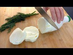 Rețetă delicioasă și ușoară de brânză de casă de casă, doar 1 ingredient, doar congelați! # 61 - YouTube Homemade Cream Cheese Recipe, Cream Cheese Recipes, Kefir, Cooking Cheese, Feta, Camembert Cheese, Diet Recipes, Frozen, Dairy