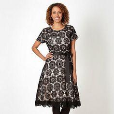 John Rocha Black Crochet Dress