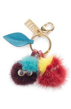 Sophie Hulme 'Mr. & Mrs. Cherry' Genuine Mink Fur Pompom Bag Charm available at #Nordstrom