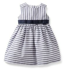 Striped Dress Set from Carter's.  The bright stripes really pop to make this dress special. A pre-tied bow and tulle underlay make it a sweet dress up look.  Get your rebate from RebateGiant.