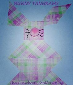 Creating Tangram Bunnies in #Preschool and #Kindergarten