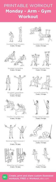 Monday - Arm - Gym Workout: my custom printable workout by @WorkoutLabs #workoutlabs #customworkout by iiiiiikdsffioye