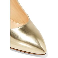 Designer Clothes, Shoes & Bags for Women Metallic Pumps, Metallic Leather, Leather Shoes, Pointed Toe Pumps, High Heel Pumps, Pumps Heels, White Pumps, Nude Pumps, Narrow Shoes