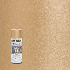 Rust-Oleum Stops Rust 11 oz. Vintage Metallic Rose Gold Protective Spray – The Home Depot Rust-Oleum Stops Rust 11 oz. Metallic Gold Spray Paint, Copper Spray Paint, Metallic Colors, Gold Paint, Paint Metal, Best Spray Paint, Spray Paint Colors, Spray Painting