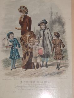 Gravure mode imbert morainvilliers godchaud 1882