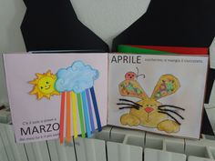 Lavoro sui mesi... Book Crafts, Arts And Crafts, Diy Crafts, Preschool Learning, Teaching, Hygge Book, Used Clothing Stores, Old Paris, Model Building Kits