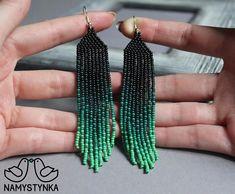 Beaded earrings long earrings native earrings seed bead