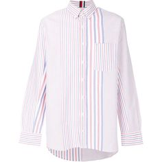 Tommy Hilfiger oversized striped shirt (10.075 RUB) ❤ liked on Polyvore featuring men's fashion, men's clothing, men's shirts, men's casual shirts, mens blue and white striped shirt, mens oversized shirt, mens stripe shirts and mens pink striped dress shirt