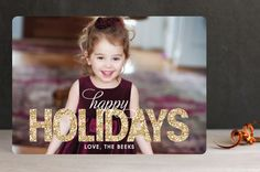 Bold Sparkle Christmas Photo Cards by jen soll | Minted