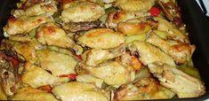 7 tavaszi zöldséges csirke recept - csak a legjobbak! - Receptneked.hu - Kipróbált receptek képekkel Potato Salad, Shrimp, Potatoes, Chicken, Ethnic Recipes, Food, Red Peppers, Potato, Essen