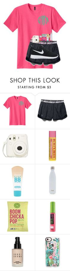 """""""Sleepover with the besties tonight!! 😍😁"""" by emmalw02 ❤ liked on Polyvore featuring Under Armour, Fujifilm, Polaroid, Maybelline, S'well, Bobbi Brown Cosmetics, Casetify and NIKE"""