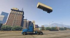 "Except when you have a whole universe at your disposal, frisbees or basketballs won't do. No, in ""GTA V,"" you drive a semi-truck trailer over a stick of C4 and try to land the trailer back on the truck after if blasts sky-high."