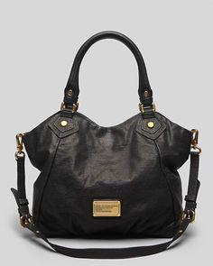 MARC BY MARC JACOBS Classic Q Fran Croc Black Leather Shoulder bag #MarcJacobs #Satchel