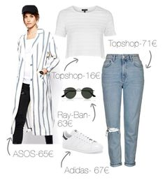 """""""Celebrity Style Sunday: Kendall Jenner"""" by theeuropeancloset on Polyvore featuring Topshop, ASOS, Ray-Ban and adidas"""