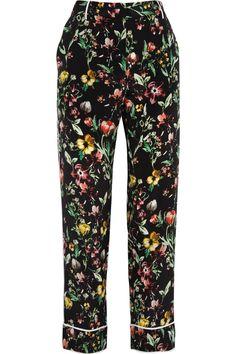 3.1 PHILLIP LIM  Botanical-print tapered silk pants