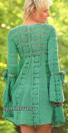 connect with each other in the last row according to the pattern of connecting motifs and the pattern. Right sleeve: 28 basic motifs to connect with each other in the last row according to the pattern of Crochet Coat, Crochet Jacket, Crochet Cardigan, Crochet Clothes, Crochet Numbers, Turquoise Dress, Crochet Fashion, Beautiful Crochet, Vintage Crochet