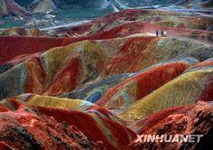Gansu  Majestic Danxia Landform after rain