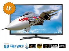 Televisión LED 3D 46'' Samsung Smart TV HG46EA790MS