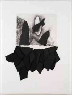Paul Chan, Chinese roof into pyramid – (for 5th Light), 2006, Paper and charcoal on Styrofoam, 32 1/8 x 23 1/8 x 3/4 in