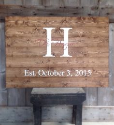 Large, Guest Book Sign, Established Sign, The ___ last name Sign, Rustic Sign, Rustic Decor, Rustic Wedding, 36x24, 1 custom color by SimplyMadeDesignsbyb on Etsy