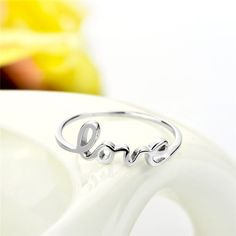 *** Buy 2 Items Get 1 Free ***  *** FREE FAST SHIPPING *** (usually delivered within 48h-72h) Get this amazing Sterling Silver LOVE ring! Material: 925 Sterling Charms, Love Ring, Ring Verlobung, Wedding Jewelry, Gold, Engagement, Sterling Silver, Rings, Jewelries