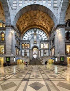 Antwerp's Central Station, known as the Railway Cathedral, was built between 1895 and 1905.7 Koningin Astridplein; 011-32-2-528-28-28; belgianrail.be