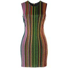 Balmain Short Dress ($3,800) ❤ liked on Polyvore featuring dresses, black, sleeveless dress, stretchy dresses, lined dress, short dresses and lining dress