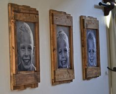 Rustic wood picture frames rustic home decor by DesignsOnSigns3