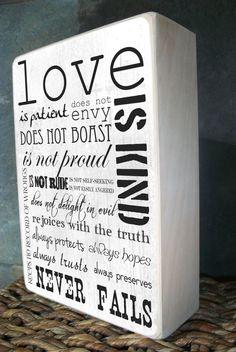 1 Corinthians 134 Valentine's Day Gifts by MVFbyChocolateMoose