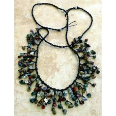 Bib Necklace, Stone Necklace, Stone Chips Necklace, Rustic Necklace,... (70 BGN) ❤ liked on Polyvore featuring jewelry, necklaces, stone jewellery, boho jewelry, bib necklaces, bohemian jewellery and stone necklaces