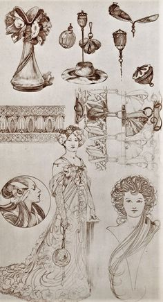 Sketches by Alfons Mucha