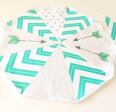 arrow banner fabric bunting pennant flags wedding party banner mint turquoise